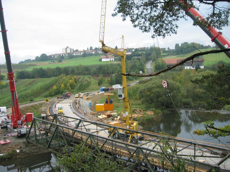 Bauunternehmen Brückenabbruch
