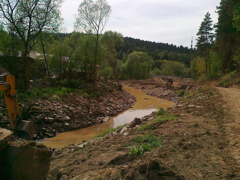 Flussbett Gestaltung Deggendorf