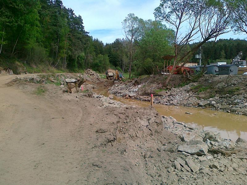 Flussläufe Erdbewegungen