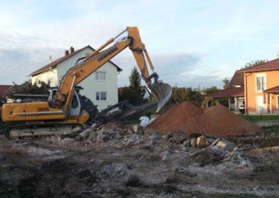 Abbrucharbeiten Einfamilienhaus