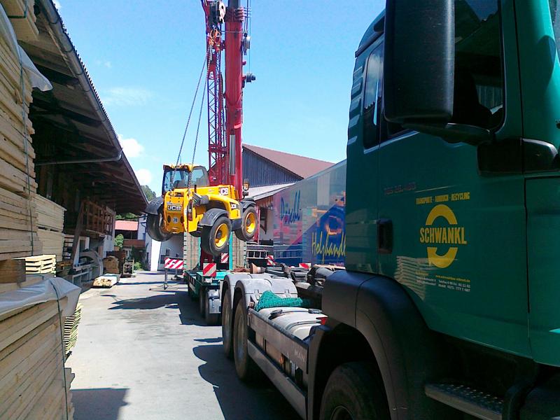 Transport von Baustoffen und Erdreich